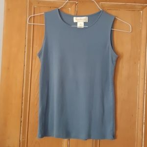 Sleeveless top in rich blue color